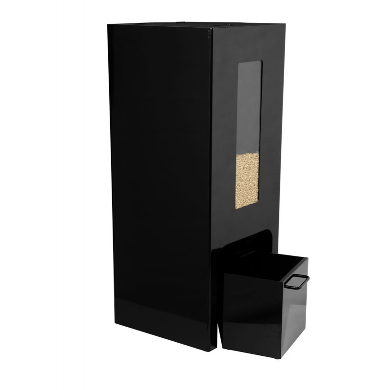 reserve de stockage pour le granul de bois. Black Bedroom Furniture Sets. Home Design Ideas